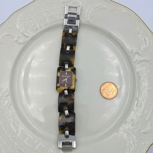 Michael Kors Tortoise Shell Silver Link Watch